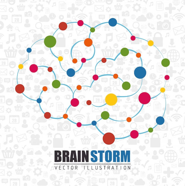 人間の脳の知能 Premiumベクター