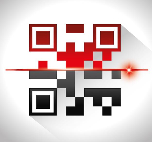 Разработка цифрового кода Premium векторы
