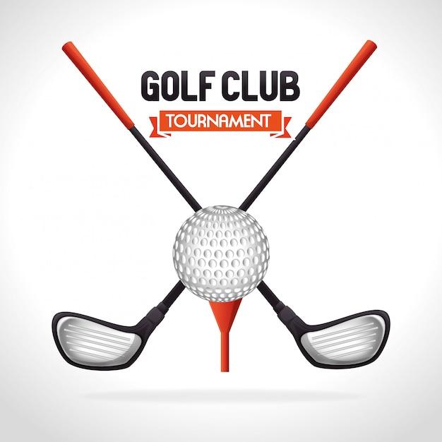 ゴルフトーナメントデザイン Premiumベクター