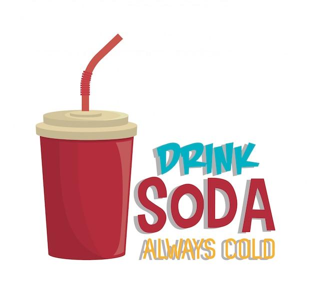 ソーダ飲料ドリンク絶縁 Premiumベクター