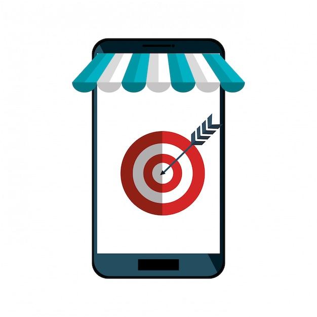Интернет-магазин смартфонов интернет-магазин Premium векторы