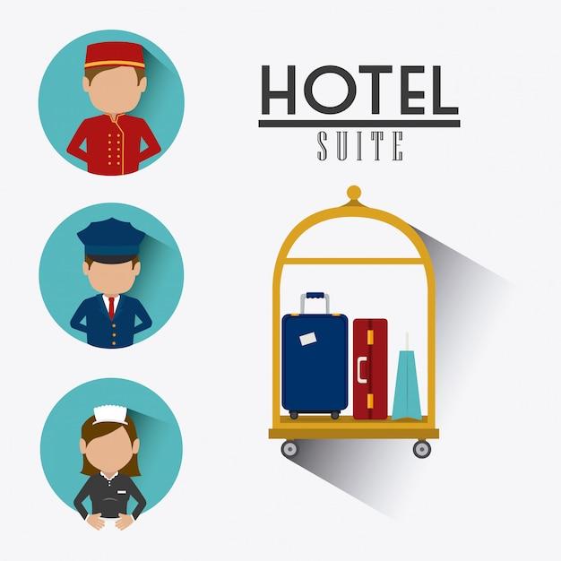 ホテルのデザイン Premiumベクター