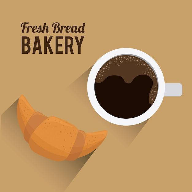 パン屋さんのデザイン。 Premiumベクター