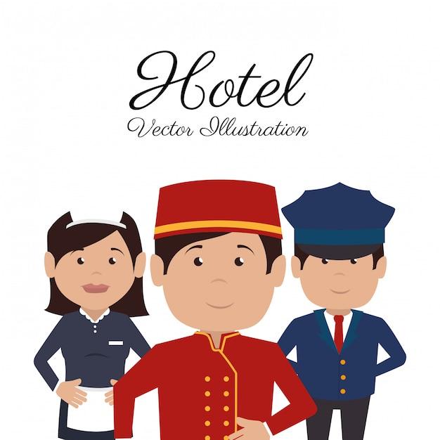 ホテルデザイン Premiumベクター