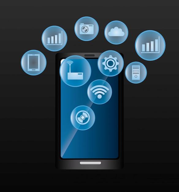 技術デジタル設計 Premiumベクター