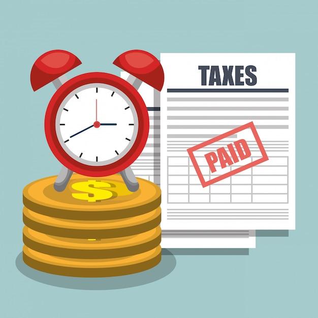 Налоговое время Бесплатные векторы