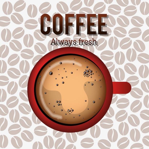 Вкусный кофе Бесплатные векторы