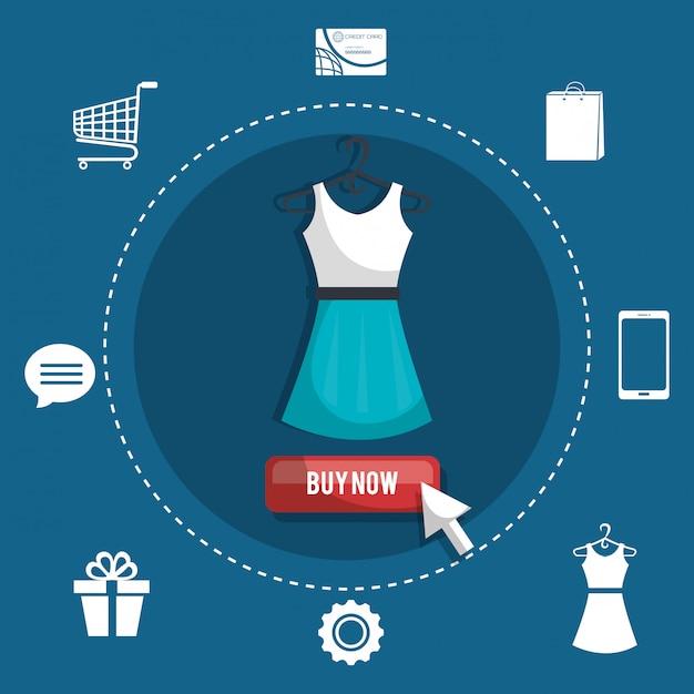 Покупки онлайн Бесплатные векторы