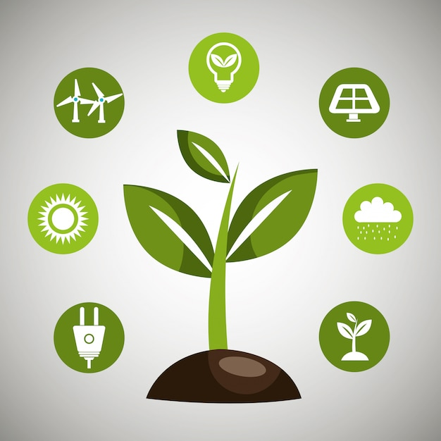 再生可能エネルギー 無料ベクター
