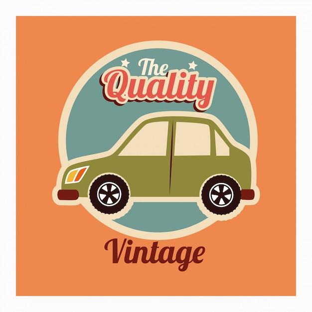 Дизайн автомобиля на оранжевом фоне Бесплатные векторы