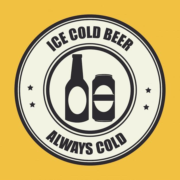 Дизайн пива желтая иллюстрация Бесплатные векторы