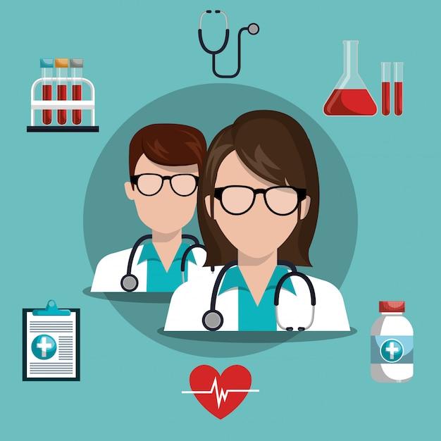 Дизайн медицинской помощи Бесплатные векторы