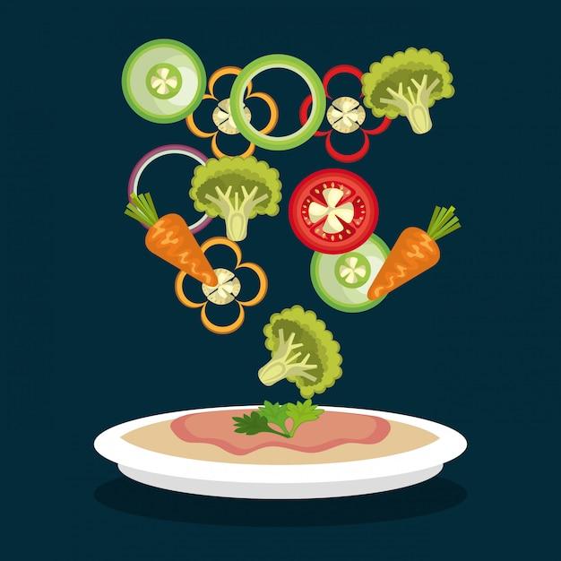 健康食品デザイン 無料ベクター