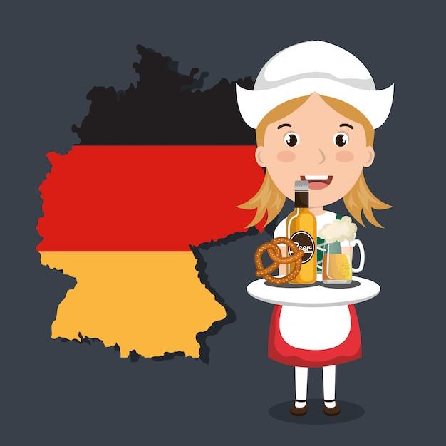 ドイツ文化デザイン 無料ベクター