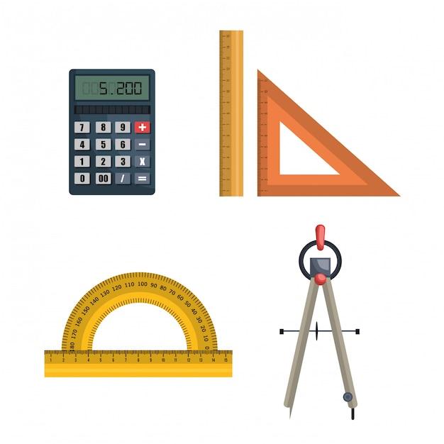 Дизайн инструментов архитектуры Бесплатные векторы