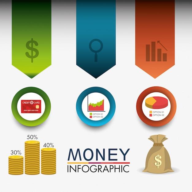 Статистика роста бизнеса и экономии денег Бесплатные векторы