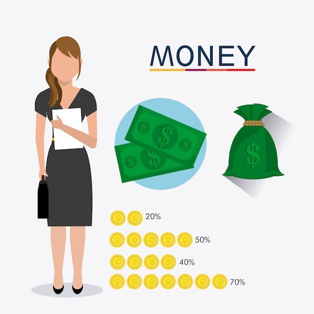 Бизнес, деньги и человеческие ресурсы Бесплатные векторы