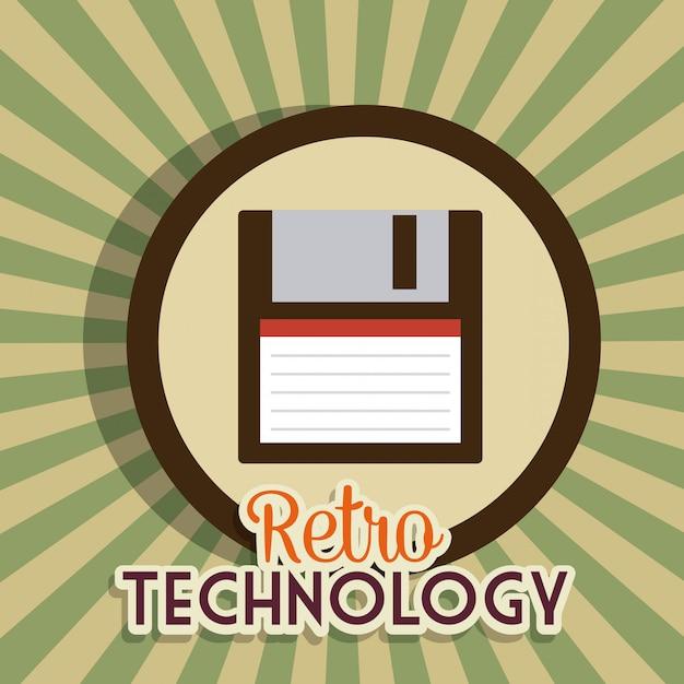 レトロとビンテージのテクノロジーグラフィック 無料ベクター