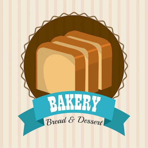 ベーカリー、デザート、ミルクバーのデザイン。 無料ベクター