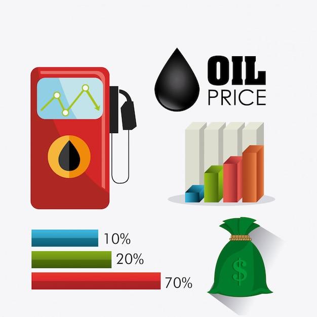 Нефтяная и нефтедобывающая инфографика Бесплатные векторы