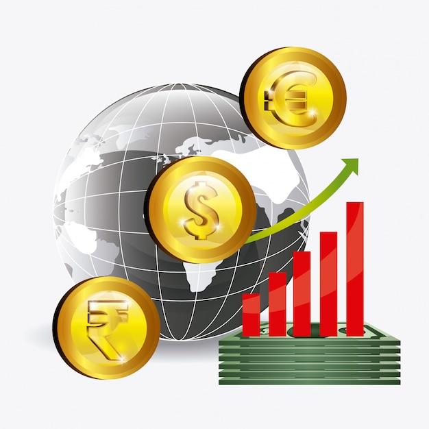 Глобальный дизайн экономики. Бесплатные векторы