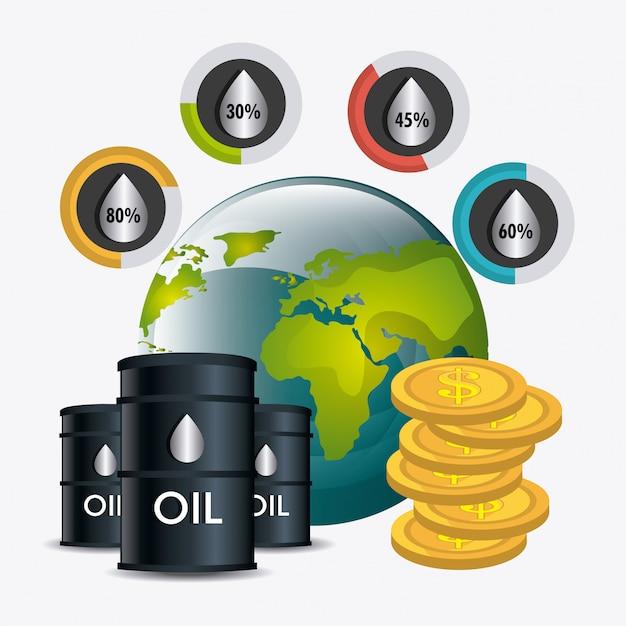 Цены на нефть в промышленности Бесплатные векторы