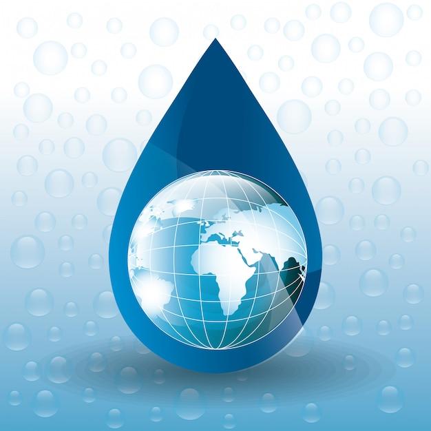 Сохранить водную экологию Бесплатные векторы