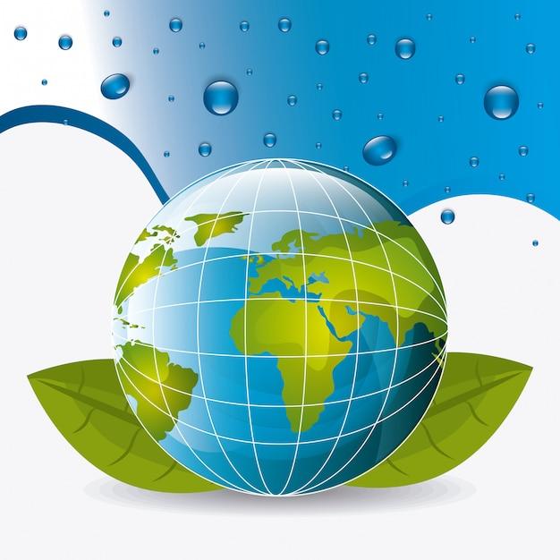 節水エコロジー 無料ベクター