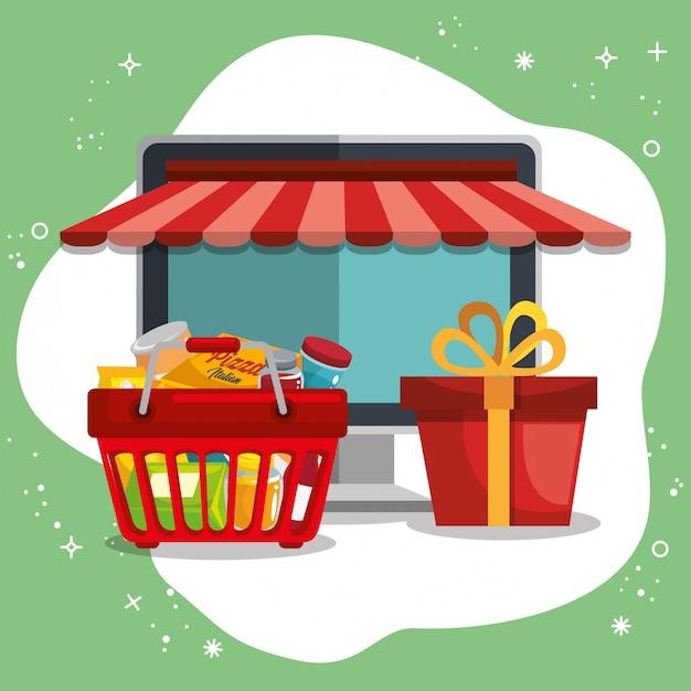 Электронная коммерция набор иконок Бесплатные векторы