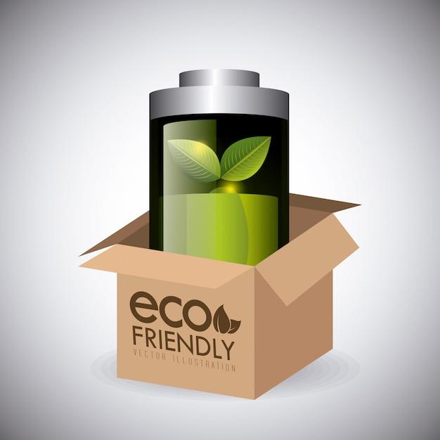 グリーンエネルギーとエコロジー 無料ベクター