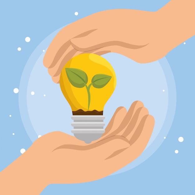 Лампы экологии иконки Бесплатные векторы