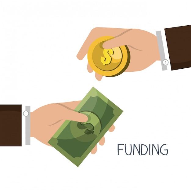 資金調達の概念 無料ベクター