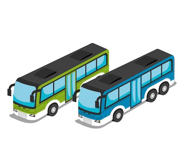 Изометрическое транспортное средство Бесплатные векторы