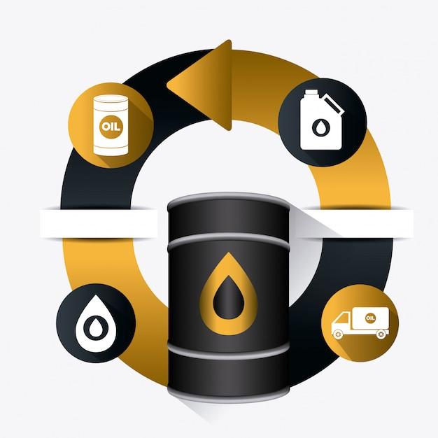 石油および石油産業のインフォグラフィック 無料ベクター