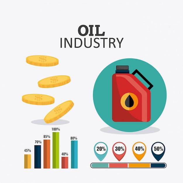 Нефтяной и нефтяной промышленности инфографики дизайн Бесплатные векторы