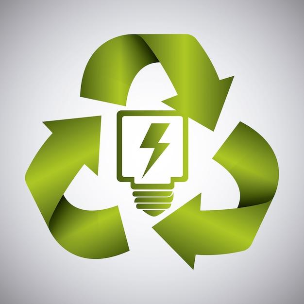 Зеленая энергия и экология Бесплатные векторы