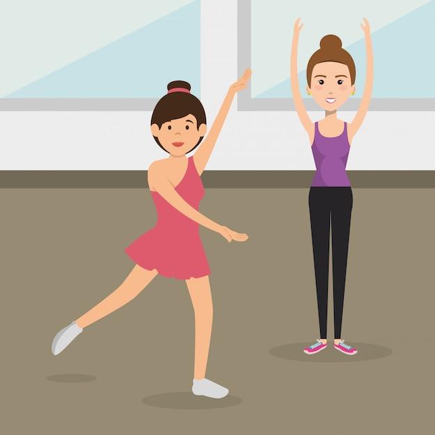 運動の文字を練習して運動の人々 無料ベクター