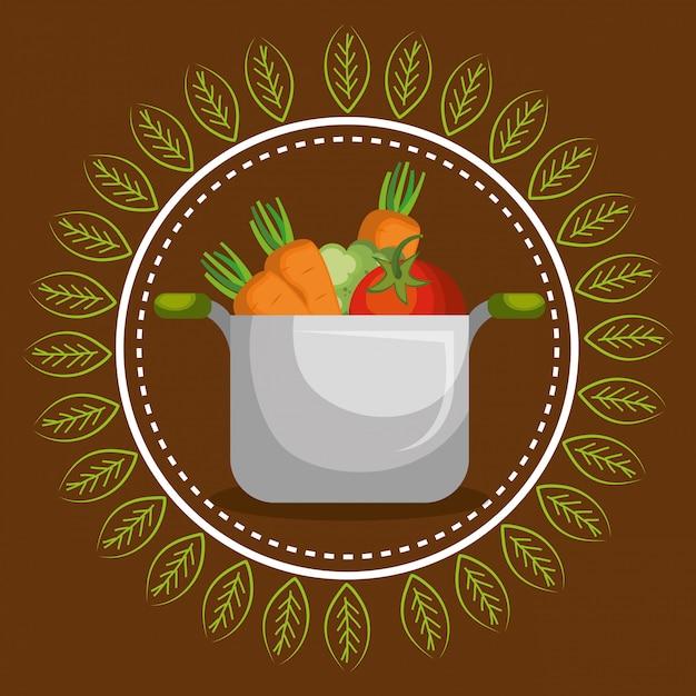 新鮮な野菜健康食品 無料ベクター