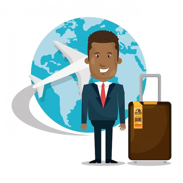 世界中を旅する 無料ベクター