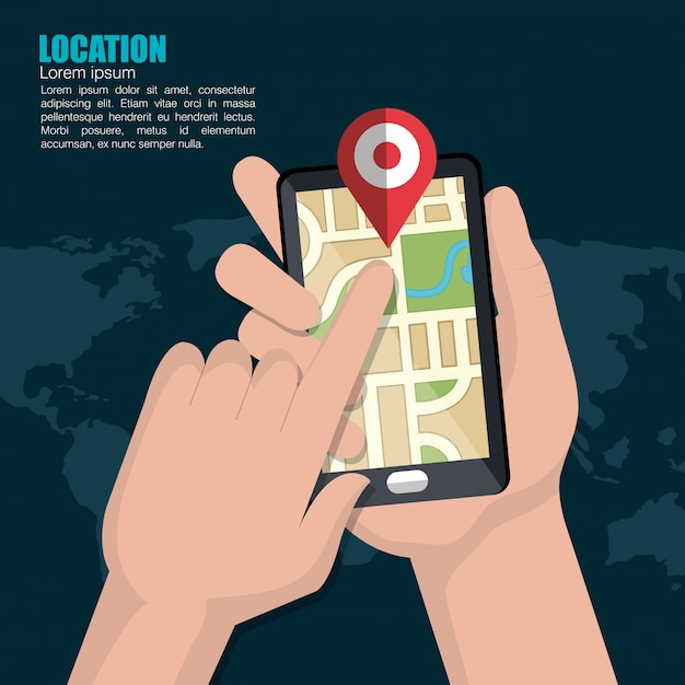 地理的位置システム 無料ベクター