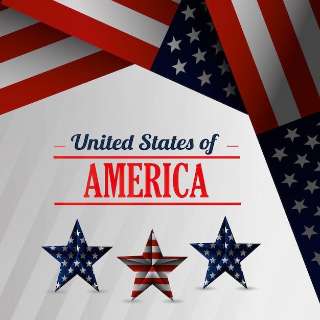アメリカ合衆国のデザイン。 無料ベクター