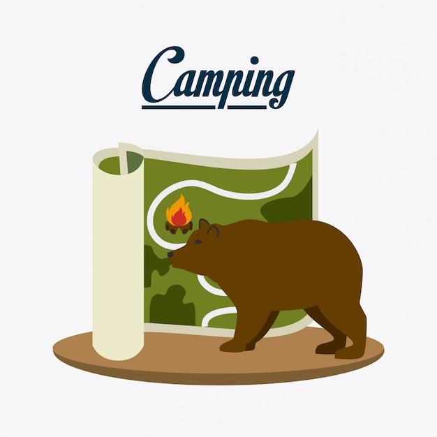 キャンプ、旅行、休暇 無料ベクター