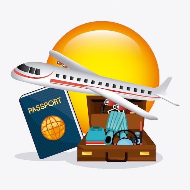 Лето, каникулы и путешествия Бесплатные векторы