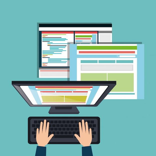 Концепция веб-дизайна Бесплатные векторы