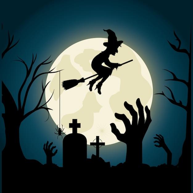 Счастливый дизайн фестиваля хэллоуин. Premium векторы