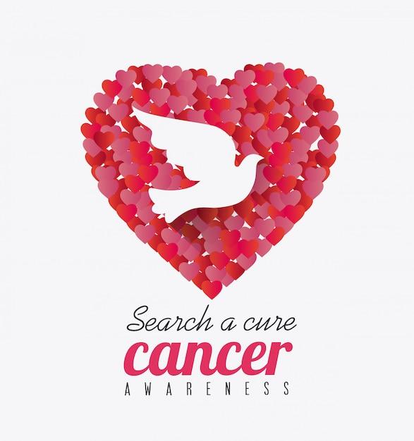 Сообщение кампании против рака молочной железы Premium векторы