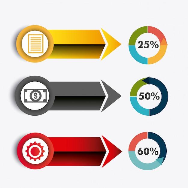 Мир связей и бизнес инфографики Premium векторы