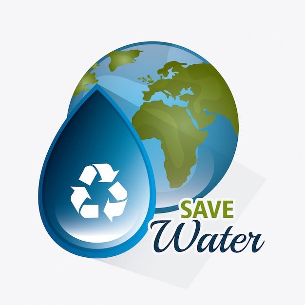 水を節約する Premiumベクター