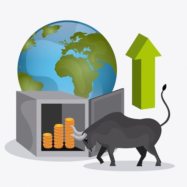 ビジネス証券取引所 Premiumベクター