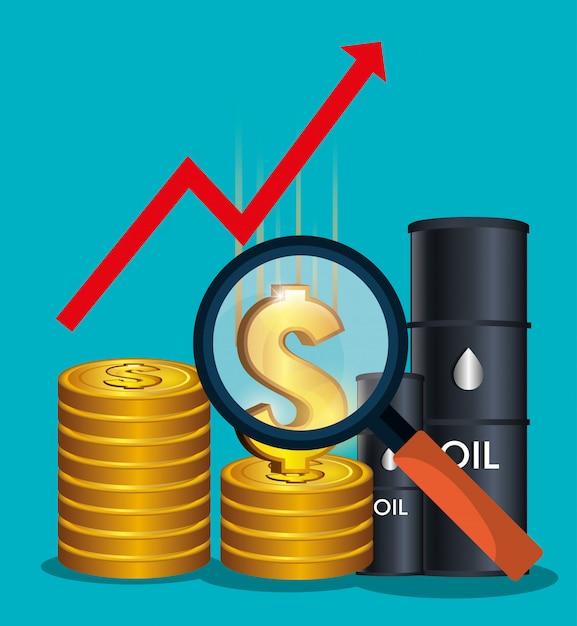 石油価格と産業 無料ベクター